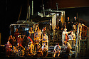 London, UK. 13.06.2014. Penny Woolcock's THE PEARL FISHERS returns to ENO, at the London Coliseum, as a co-production with the Metropolitan Opera, New York. Picture shows: Crowd scene. Photograph © Jane Hobson.