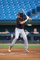 Jac Caglianone (28) of Plant HS in Tampa, FL playing for the San Francisco Giants scout team during the East Coast Pro Showcase at the Hoover Met Complex on August 2, 2020 in Hoover, AL. (Brian Westerholt/Four Seam Images)