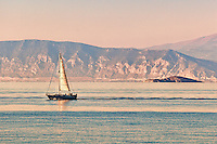 A sail boat in Agistri island, Greece