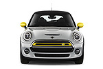Car photography straight front view of a 2020 MINI MINI-Electric Cooper-SE-L 2 Door Hatchback Front View