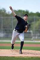 Pitcher Brett Gerritse (35) of the New York Yankees organization during a minor league spring training game against the Pittsburgh Pirates on March 22, 2014 at Pirate City in Bradenton, Florida.  (Mike Janes/Four Seam Images)