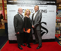 """Pictured: Eirian Wynn (L). Sunday 14 September 2014<br /> Re: Film premiere of """"Jack To A King"""" depicting the recent history pf Swansea City Football Club, at the Odeon Cinema, Swansea, south Wales, UK."""