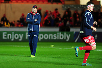Head Coach Wayne Pivac of Scarlets during the pre match warm up for the Heineken Champions Cup round 5 match between the Scarlets and Leicester Tigers at the Parc Y Scarlets Stadium in Llanelli, Wales, UK. Saturday 12th January 2019