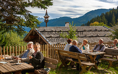 Oesterreich, Salzburger Land, Pinzgau, Dienten: Jausenstation Gruenegg   Austria, Salzburger Land, Dienten: mountain Inn 'Gruenegg'