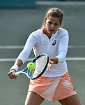 April 8,2018:   Julia Goerges (GER) loses to Kiki Bertens (NED) 6-2, 6-1, at the Volvo Car Open being played at Family Circle Tennis Center in Charleston, South Carolina.  ©Leslie Billman/Tennisclix/CSM