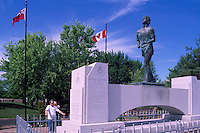 "Terry Fox Statue at ""Terry Fox Scenic Lookout"", along ""Terry Fox Courage Highway"" (Trans Canada Highway / Hwy 17), near Thunder Bay, ON, Ontario, Canada (Sculptor: Manfred Pirwitz, 1982)"