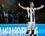 Nederland, Almelo, 29 augustus 2015<br /> Eredivisie<br /> Seizoen 2015-2016<br /> Heracles Almelo-FC Twente<br /> Wout Weghorst van Heracles Almelo juicht na een doelpunt.