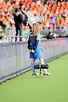 The Hague, Netherlands, June 05: Ball kid during the field hockey group match (Women - Group A) between New Zealand and The Netherlands on June 5, 2014 during the World Cup 2014 at Kyocera Stadium in The Hague, Netherlands. Final score 0-2 (0-2) (Photo by Dirk Markgraf / www.265-images.com) *** Local caption ***