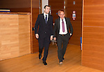 St Johnstone FC Hall of Fame Dinner, Perth Concert Hall….03.04.16<br />Dave Mackay escorts Hall of Fame Inductee Steve Maskrey into the concert hall<br />Picture by Graeme Hart.<br />Copyright Perthshire Picture Agency<br />Tel: 01738 623350  Mobile: 07990 594431