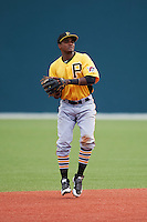 Pittsburgh Pirates Pablo Reyes (68) during an instructional league intrasquad black and gold game on September 18, 2015 at Pirate City in Bradenton, Florida.  (Mike Janes/Four Seam Images)