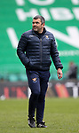 Hibs v St Johnstone…01.05.21  Easter Road. SPFL<br />Saints manager Callum Davidson pictured at full time<br />Picture by Graeme Hart.<br />Copyright Perthshire Picture Agency<br />Tel: 01738 623350  Mobile: 07990 594431