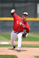 Erie Seawolves pitcher Warwick Saupold (30) delivers a pitch during a game against the Binghamton Mets on July 13, 2014 at Jerry Uht Park in Erie, Pennsylvania.  Binghamton defeated Erie 5-4.  (Mike Janes/Four Seam Images)