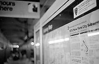 Metro-Station des A-Train in NYC.<br /> 5.1.1999, New York<br /> Copyright: Christian-Ditsch.de<br /> [Inhaltsveraendernde Manipulation des Fotos nur nach ausdruecklicher Genehmigung des Fotografen. Vereinbarungen ueber Abtretung von Persoenlichkeitsrechten/Model Release der abgebildeten Person/Personen liegen nicht vor. NO MODEL RELEASE! Don't publish without copyright Christian-Ditsch.de, Veroeffentlichung nur mit Fotografennennung, sowie gegen Honorar, MwSt. und Beleg. Konto:, I N G - D i B a, IBAN DE58500105175400192269, BIC INGDDEFFXXX, Kontakt: post@christian-ditsch.de]