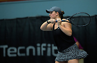 Women's doubles final between Paige Hourigan / Vivian Yang and Holly Stewart (pictured) / Sarah Weekly. 2019 Wellington Tennis Open finals at Renouf Centre in Wellington, New Zealand on Sunday, 22 December 2019. Photo: Dave Lintott / lintottphoto.co.nz