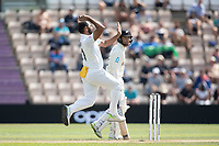 Mohammad Shami, India prepares to bowl as Devon Conway, New Zealand backs up during India vs New Zealand, ICC World Test Championship Final Cricket at The Hampshire Bowl on 23rd June 2021