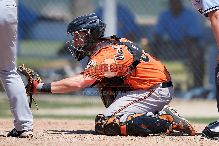 Baltimore Orioles Jerry McClanahan (65) during a minor league Spring Training game against the Tampa Bay Rays on March 29, 2017 at the Buck O'Neil Baseball Complex in Sarasota, Florida.  (Mike Janes/Four Seam Images)