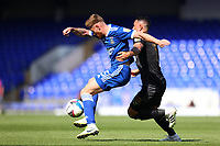 13th September 2020; Portman Road, Ipswich, Suffolk, England, English League One Footballl, Ipswich Town versus Wigan Athletic; Teddy Bishop of Ipswich Town is challenged by Gary Roberts of Wigan Athletic