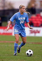 Kristi Eveland. UNC defeated Maryland, 1-0, during the regular season finale at College Park, Maryland.