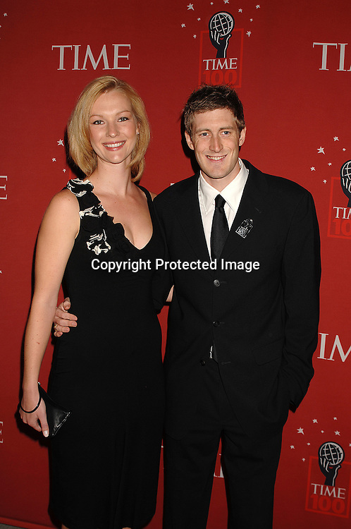 Eleanor Collins and Joey Cheek ..arriving at The Time's 100 Most Influential People in the world on May 8, 2007 at Jazz at Lincoln Center atThe Time Warner Center in New York City. ..Robin Platzer, Twin Images......212-935-0770
