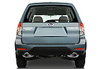 Straight rear view of a 2009 Subaru Forester