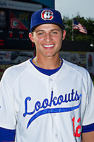 Corey Seager (12) of the Chattanooga Lookouts poses for a photo prior to the game against the Montgomery Biscuits at AT&T Field on July 24, 2014 in Chattanooga, Tennessee.  The Biscuits defeated the Lookouts 6-4. (Brian Westerholt/Four Seam Images)
