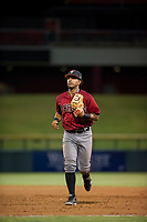 AZL Diamondbacks second baseman Eddie Hernandez (2) jogs off the field between innings of the game against the AZL Cubs on August 11, 2017 at Sloan Park in Mesa, Arizona. AZL Cubs defeated the AZL Diamondbacks 7-3. (Zachary Lucy/Four Seam Images)
