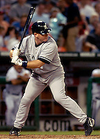 16 June 2006: Kelly Stinnett, catcher for the New York Yankees, in action against the Washington Nationals at RFK Stadium, in Washington, DC. The Yankees defeated the Nationals 7-5 in the first meeting of the two franchises...Mandatory Photo Credit: Ed Wolfstein Photo...