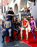 LOS ANGELES - JAN 9:  Burt Ward, Nancy O'Dell, Batman, Catwoman, Robin, Riddler at the Burt Ward Star Ceremony on the Hollywood Walk of Fame on JANUARY 9, 2020 in Los Angeles, CA