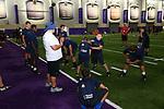 FT WORTH, TX - JUNE 19: LaDainian Tomlinson football camp at TCU Sammy Baugh indoor football practice facility in FT Worth on June 19, 2018 in FT Worth, Texas.