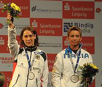 European Championships Fencing 2010 / Fecht Europameisterschaft 2010 in Leipzig - Competition Championat d'europe - im Bild: 3rd place women sabre Sibylle Klemm (GER)  . Foto: Norman Rembarz..Norman Rembarz , Autorennummer 41043728 , Augustenstr. 2, 04317 Leipzig, Tel.: 01794887569, Hypovereinsbank: BLZ: 86020086, KN: 357889472, St.Nr.: 231/261/06432 - Jegliche kommerzielle Nutzung ist honorar- und mehrwertsteuerpflichtig! Persönlichkeitsrechte sind zu wahren. Es wird keine Haftung übernommen bei Verletzung von Rechten Dritter. Autoren-Nennung gem. §13 UrhGes. wird verlangt. Weitergabe an Dritte nur nach  vorheriger Absprache..