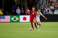 Carson, CA - Thursday August 03, 2017: Carli Lloyd during a 2017 Tournament of Nations match between the women's national teams of the United States (USA) and Japan (JAP) at StubHub Center.