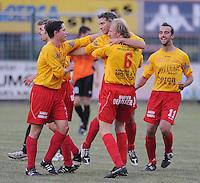 OMS Ingelmunster - SV Oostkamp.vreugde na de 1-0 van Clem Otté.foto VDB / BART VANDENBROUCKE