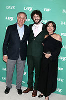 """LOS ANGELES - FEB 27:  Dave Burd, parents at the """"Dave"""" Premiere Screening from FXX at the DGA Theater on February 27, 2020 in Los Angeles, CA"""