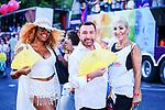 Jose Manuel Parada (c) during LGTB Pride March in Madrid. July 06, 2019. (ALTERPHOTOS/Francis González)