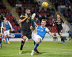 St Johnstone v Partick Thistle…08.08.17… McDiarmid Park.. Betfred Cup<br />Steven MacLean attempts an overhead kick<br />Picture by Graeme Hart.<br />Copyright Perthshire Picture Agency<br />Tel: 01738 623350  Mobile: 07990 594431