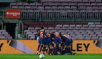 6th January 2021; Camp Nou, Barcelona, Spain. La Liga Womens league football FC Barcelona versus Rcd Espanyol; FC Barcelona celebrating their goal in Camp Nou Stadium