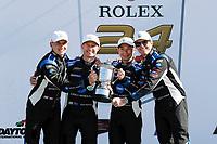 #10 Konica Minolta Cadillac DPi-V.R. Cadillac DPi, DPi: Renger Van Der Zande, Ryan Briscoe, Scott Dixon, Kamui Kobayashi, podium