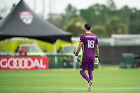 LAKE BUENA VISTA, FL - JULY 23: Kenneth Kronholm #18 of the Chicago Fire waiting on the ball during a game between Chicago Fire and Vancouver Whitecaps at Wide World of Sports on July 23, 2020 in Lake Buena Vista, Florida.