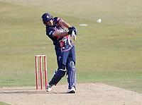 Grant Stewart hits the winning six for Kent during Kent Spitfires vs Essex Eagles, Vitality Blast T20 Cricket at The Spitfire Ground on 18th September 2020