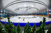 28th December 2020; Thialf Ice Stadium, Heerenveen, Netherlands; World Championship Speed Skating; stadium overview during the WKKT