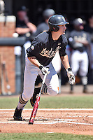 Vanderbilt Commodores center fielder Bryan Reynolds (20) swings at a pitch during a game against the Tennessee Volunteers at Lindsey Nelson Stadium on April 24, 2016 in Knoxville, Tennessee. The Volunteers defeated the Commodores 5-3. (Tony Farlow/Four Seam Images)