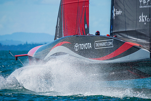 By gate one in race six, Emirates Team New Zealand was 51 seconds ahead, a physical distance of around 800 m on the water