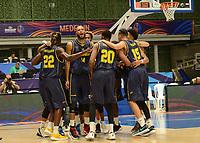 MEDELLÍN - COLOMBIA, 25-08-2017: Jugadores de Colombia durante el partido entre Brasil y Colombia de la fase de grupos, grupo A, de la FIBA AmeriCup 2017 jugado en el coliseo Iván de Bedout de la ciudad de Medellín.  El AmeriCup 2017 se juega  entre el 25 de agosto y el 3 de septiembre de 2017 en Colombia, Argentina y Uruguay. / Players of Colombia during the match between Brazil and Colombia of the group stage Group A of the FIBA AmeriCup 2017 played at Ivan de Bedout  coliseum in Medellin. The AmeriCup 2017 is played between August 25 and September 3, 2017 in Colombia, Argentina and Uruguay. Photo: VizzorImage / León Monsalve / Cont