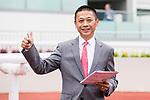 Trainer Danny Shum Chap-shing celebrates after Perfect Match winning Race 1 L'Oreal Paris Handicap during Hong Kong Racing at Sha Tin Racecourse on November 04, 2018 in Hong Kong, Hong Kong. Photo by Yu Chun Christopher Wong / Power Sport Images