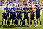 Players of Japan line up and pose for photos prior to the AFC Asian Cup UAE 2019 Group F match between Japan (JPN) and Turkmenistan (TKM) at Al Nahyan Stadium on 09 January 2019 in Abu Dhabi, United Arab Emirates. Photo by Marcio Rodrigo Machado / Power Sport Images
