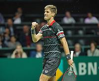 Rotterdam, The Netherlands, Februari 9, 2016,  ABNAMROWTT, Martin Klizan<br /> Photo: Tennisimages/Henk Koster