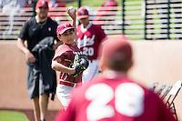 STANFORD, CA - March 6, 2016:  Stanford vs Vanderbilt at Klein Field at Sunken Diamond. Vanderbilt won the game 5-2.