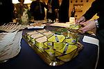 Acto de presentacion de las nuevas anchoas sin sal de la empresa conservera El Consorcio, celebrado en el Palco de  Honor del estadio Santiago Bernabeu, en Madrid el 26 de Abril de 2007..(ALTERPHOTOS/B.Echavarri)