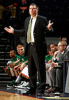 CHARLOTTESVILLE, VA- NOVEMBER 26:  Head coach Brian Wardle of the Green Bay Phoenix reacts to a call during the game on November 26, 2011 at the John Paul Jones Arena in Charlottesville, Virginia. Virginia defeated Green Bay 68-42. (Photo by Andrew Shurtleff/Getty Images) *** Local Caption *** Brian Wardle