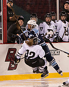 Jess Cloutier (Bowdoin - 12), Jordan Cross (CC - 19) - The Babson College Polar Bears defeated the Connecticut College Camels 3-0 on Thursday, January 12, 2017, at Fenway Park in Boston, Massachusetts.